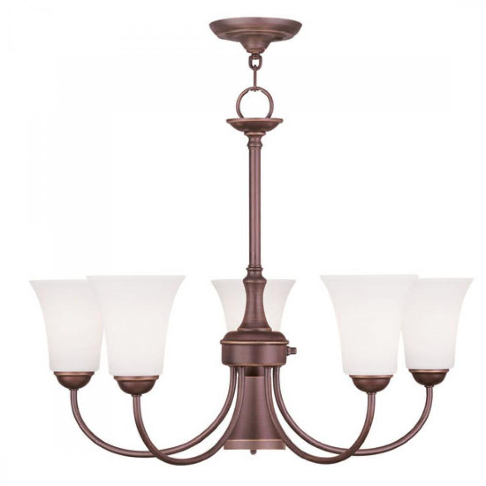 6 Light Vintage Bronze Chandelier